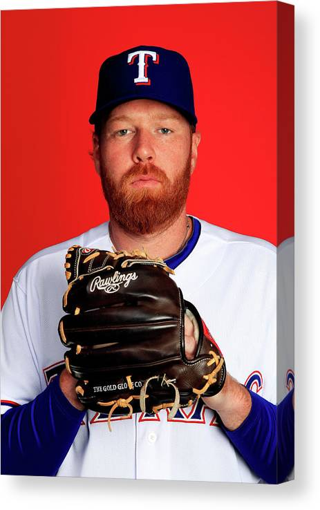 Media Day Canvas Print featuring the photograph Tommy Hanson by Jamie Squire