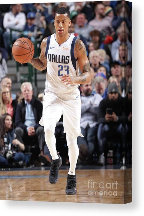Nba Pro Basketball Canvas Print featuring the photograph Trey Burke by Glenn James