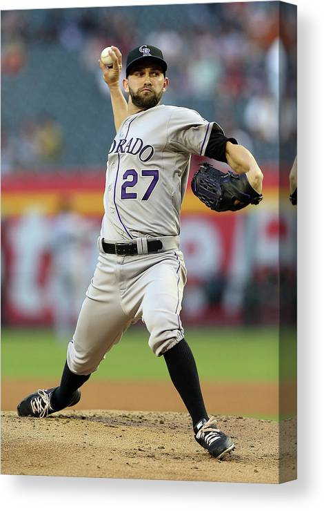 Baseball Pitcher Canvas Print featuring the photograph Tyler Chatwood by Christian Petersen