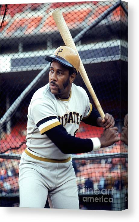 Baseball Cage Canvas Print featuring the photograph Willie Stargell by Michael Zagaris