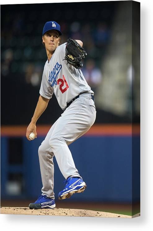 American League Baseball Canvas Print featuring the photograph Zack Greinke by Ron Antonelli