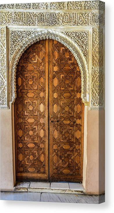 Arch Canvas Print featuring the photograph Islamic-style Doorway In Granada, Spain by Starcevic