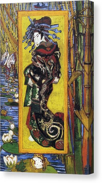 Japonaiserie Oiran After Kesai Eisen 1887 Canvas Print Canvas Art By Philip Ralley