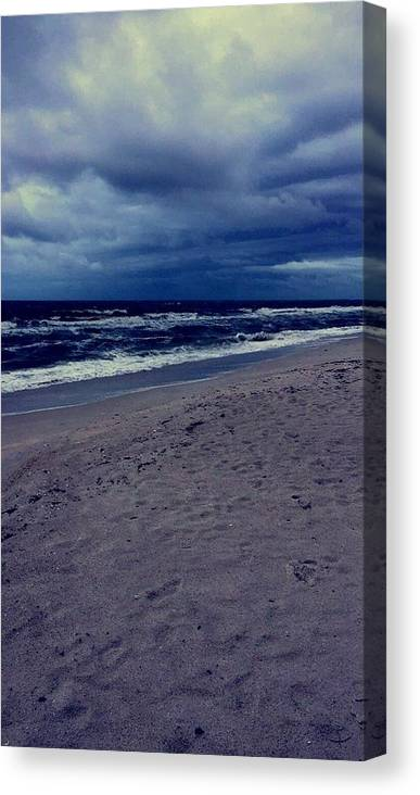 Canvas Print featuring the photograph Beach by Kristina Lebron