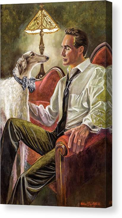 Barbara Tyler Ahlfield Canvas Print featuring the painting Best Friends Rendezvous by Barbara Tyler Ahlfield