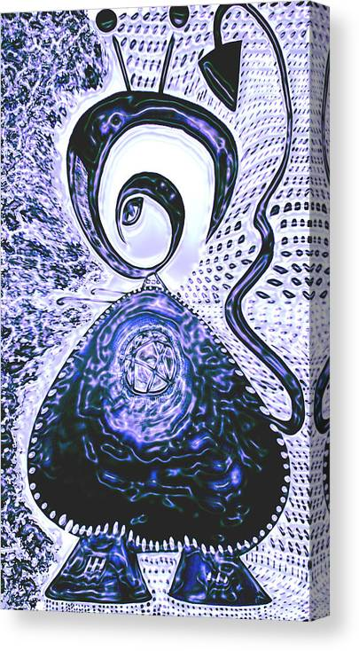 Moveonart! Digital Gallery Canvas Print featuring the painting MoveOnArt Gothic Gertrude 1 by Jacob Kanduch