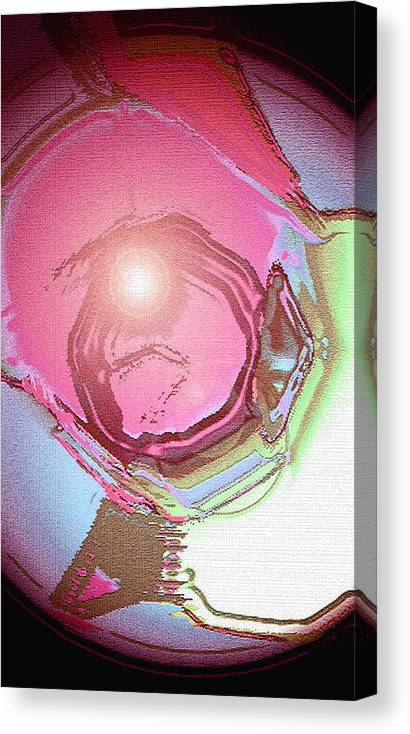 Moveonart! Digital Gallery Canvas Print featuring the digital art MoveOnArt Renewing Mind Clear Thought Therapy  Red by Jacob Kanduch