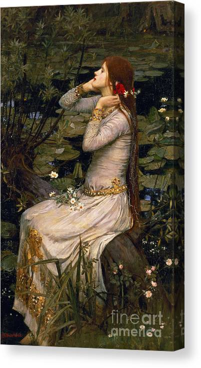 Ophelia Canvas Print featuring the painting Ophelia by John William Waterhouse