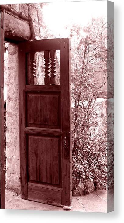 Door Canvas Print featuring the photograph The Door by Wayne Potrafka