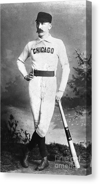 First Baseman Canvas Print featuring the photograph Cap Anson, Famed Baseball Player by Bettmann