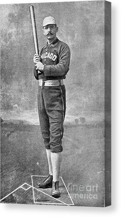 People Canvas Print featuring the photograph Cap Anson Full Figure by Transcendental Graphics