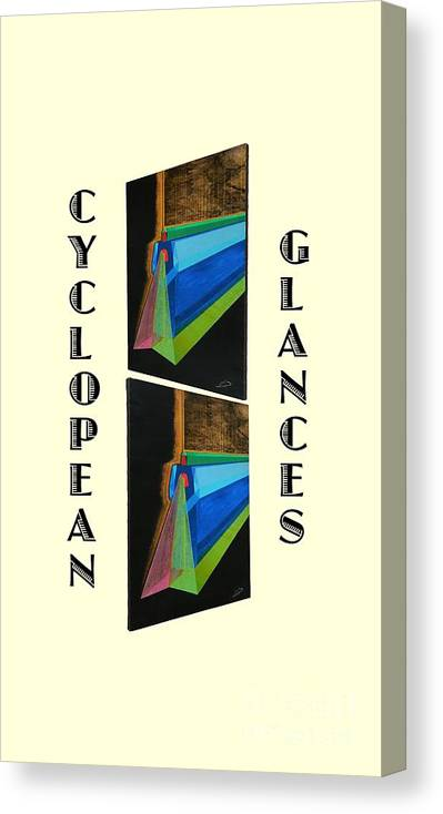 Art Canvas Print featuring the painting Cyclopean Glances Hermite by Michael Bellon