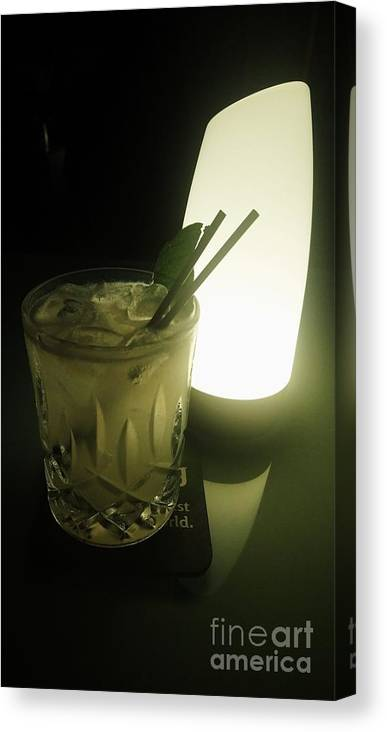Drinks Canvas Print featuring the photograph Lime On Fire by Philip