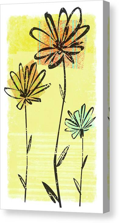 California Canvas Print featuring the digital art Flowers In Springtime by Harry Briggs