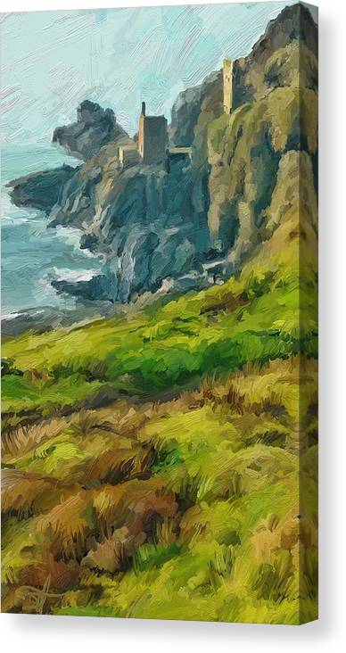 Ipad Canvas Print featuring the digital art Wheal Bottallack by Scott Waters