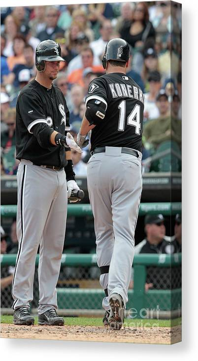 People Canvas Print featuring the photograph A. J. Pierzynski by Leon Halip