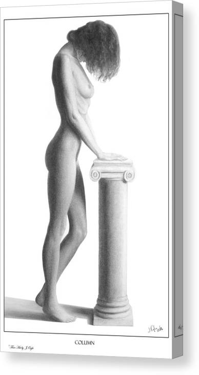 Print Canvas Print featuring the drawing Column by Joseph Ogle