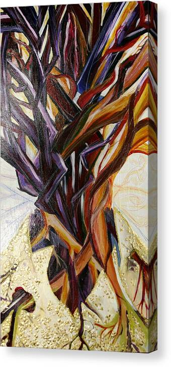 Apple Canvas Print featuring the painting Fifth World Three by Kate Fortin