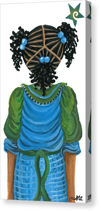 Canvas Print featuring the painting Michelle by Sonja Griffin Evans