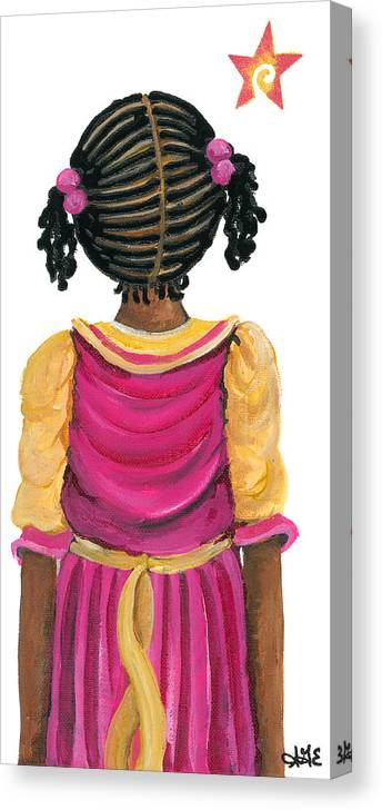 Canvas Print featuring the painting Lele by Sonja Griffin Evans