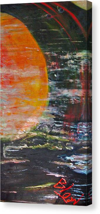 Universe Canvas Print featuring the painting Let There Be Light by Peggy Blood
