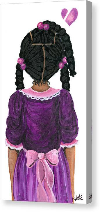 Canvas Print featuring the painting Precious by Sonja Griffin Evans