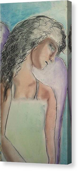 Angels Canvas Print featuring the painting Last Tears by J Bauer