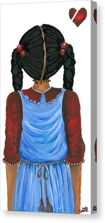 Canvas Print featuring the painting Brianna by Sonja Griffin Evans