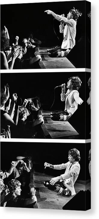 Atlanta Canvas Print featuring the photograph Mick Jagger Of The Rolling Stones In by George Rose