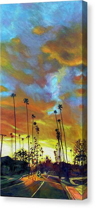 Twilight Canvas Print featuring the painting The Whole Picture by Bonnie Lambert