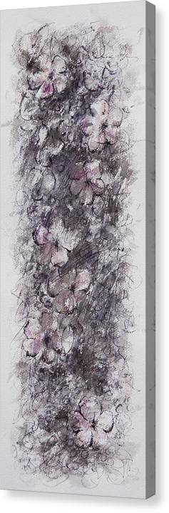 Floral Canvas Print featuring the painting floral cascade II by William Russell Nowicki