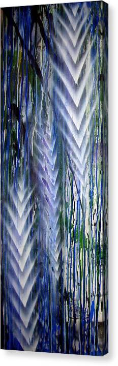 Rain Canvas Print featuring the painting Rain 2 by Leigh Odom