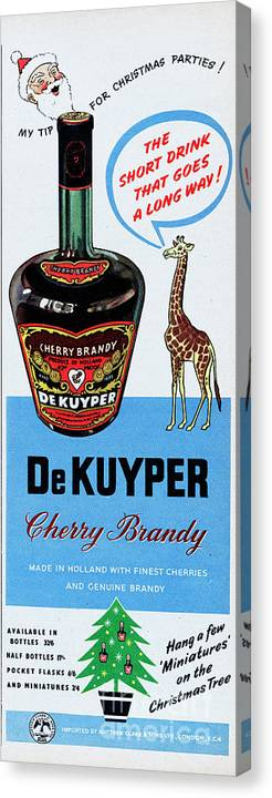 Cherry Canvas Print featuring the photograph De Kuyper Cherry Brandy by Picture Post