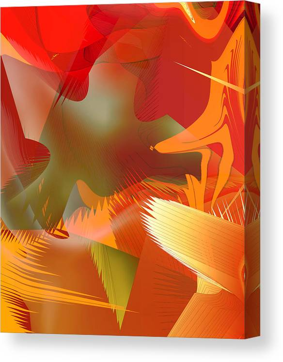 Abstract Canvas Print featuring the digital art 2013-01-29-06c4 by Peter Shor