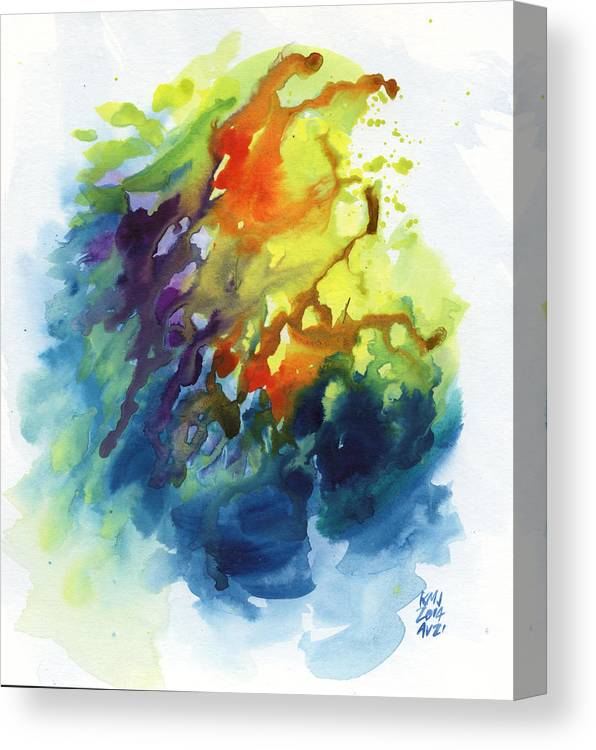 Abstract Canvas Print featuring the painting Engulfed by Ken Meyer jr