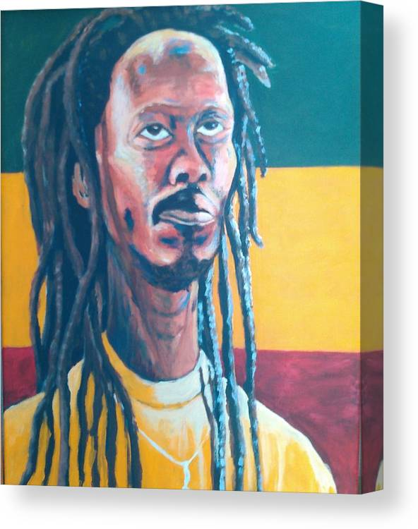 Rasta Portrait Canvas Print featuring the painting ColorPS by Andrew Johnson