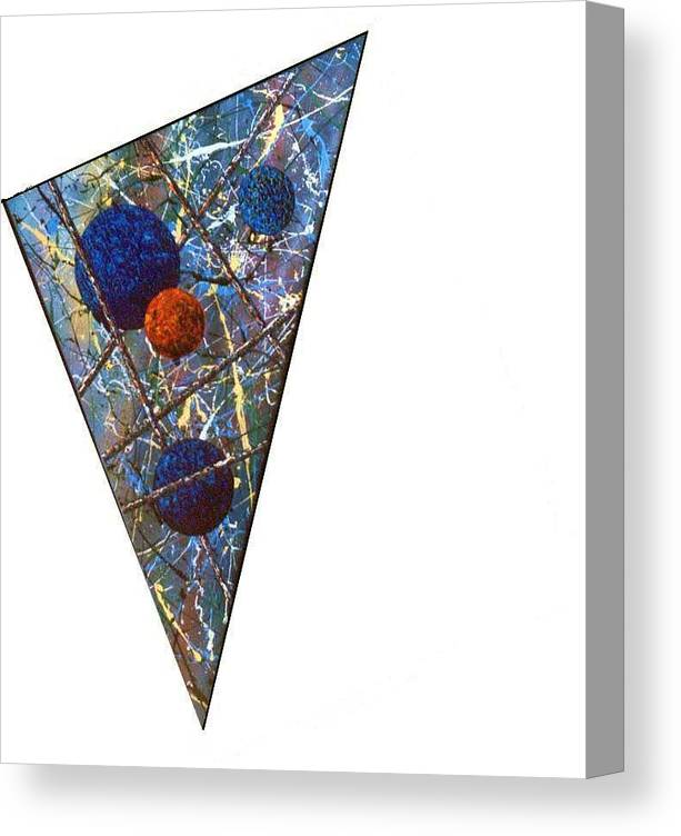 Abstract Canvas Print featuring the painting Continuum 3 by Micah Guenther