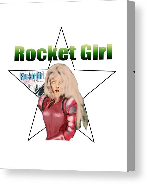 Rocket Canvas Print featuring the painting Rocket Girl by Tom Conway