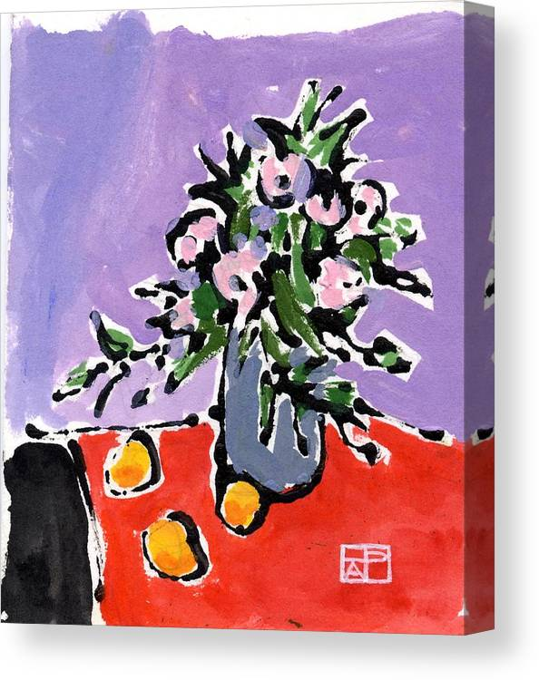 Still Life Design Canvas Print featuring the painting Small Still Life by Helen Pisarek