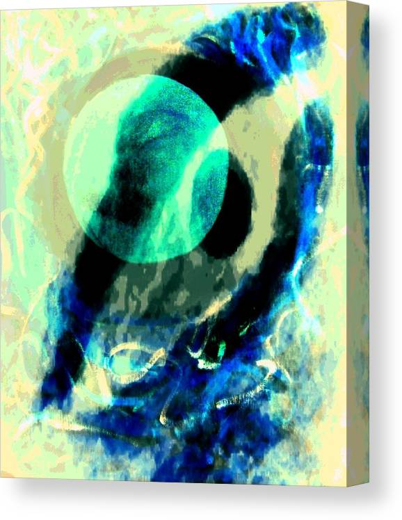 Expressionism Color Canvas Print featuring the mixed media Space 2 by Joseph Ferguson