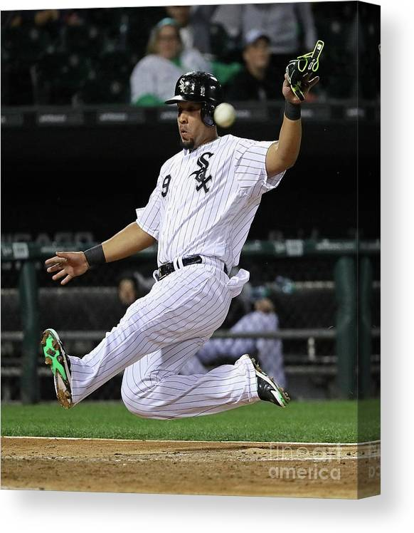 People Canvas Print featuring the photograph Tampa Bay Rays V Chicago White Sox by Jonathan Daniel