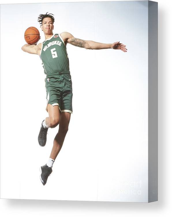 Nba Pro Basketball Canvas Print featuring the photograph Rookie Photo Shoot 2017 by Nathaniel S. Butler