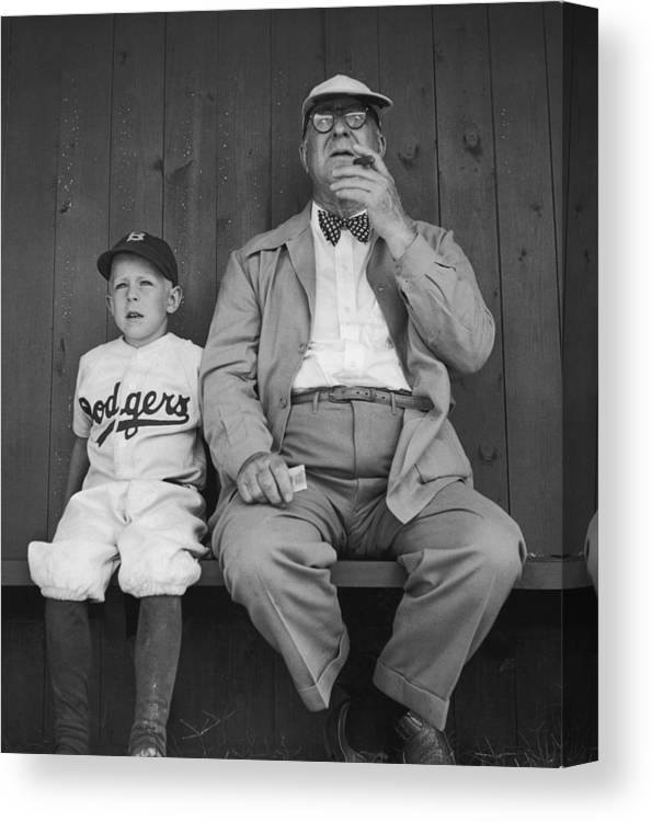 Timeincown Canvas Print featuring the photograph Branch Rickey & Family by George Silk