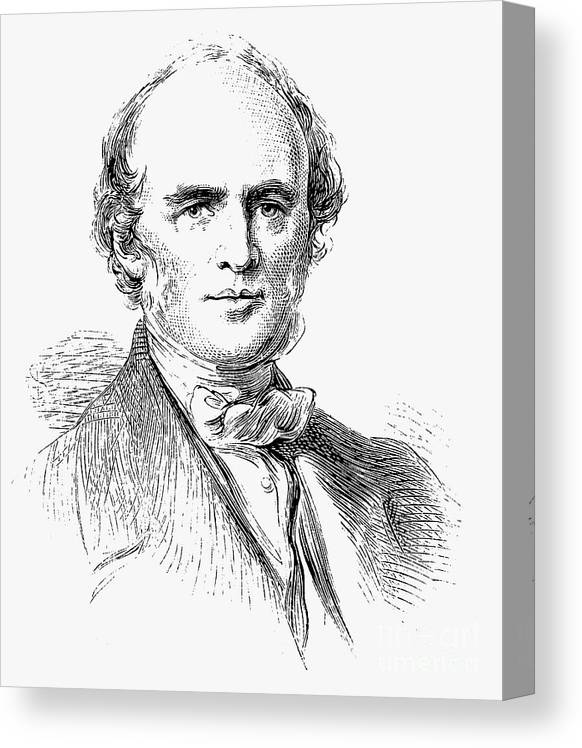 Engraving Canvas Print featuring the drawing Charles Lyell, Scottish-born British by Print Collector