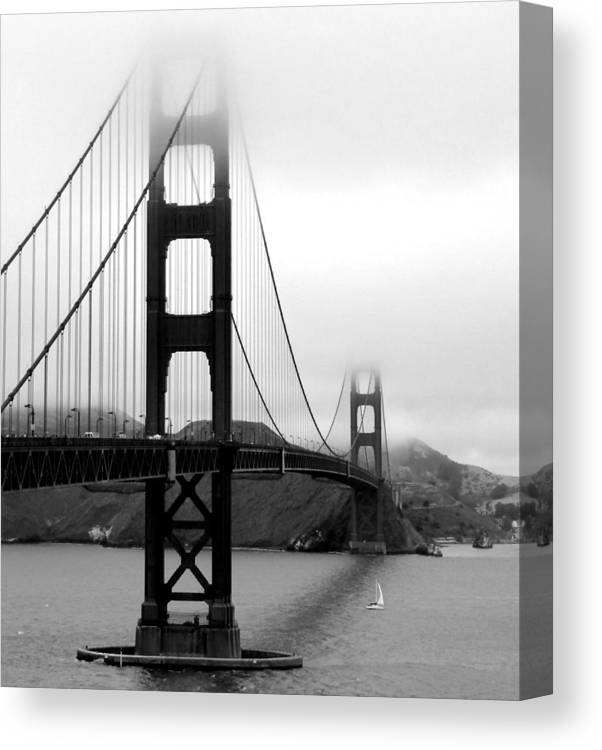 San Francisco Canvas Print featuring the photograph Golden Gate Bridge by Federica Gentile