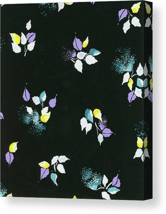 Pattern Canvas Print featuring the digital art Leaves by Joyce Bantock