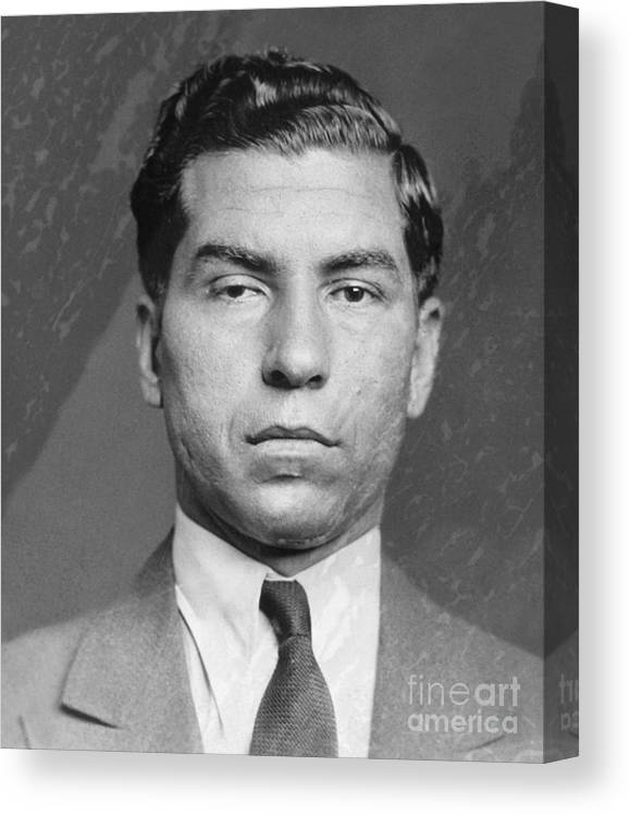Gangster Canvas Print featuring the photograph Lucky Luciano by Bettmann