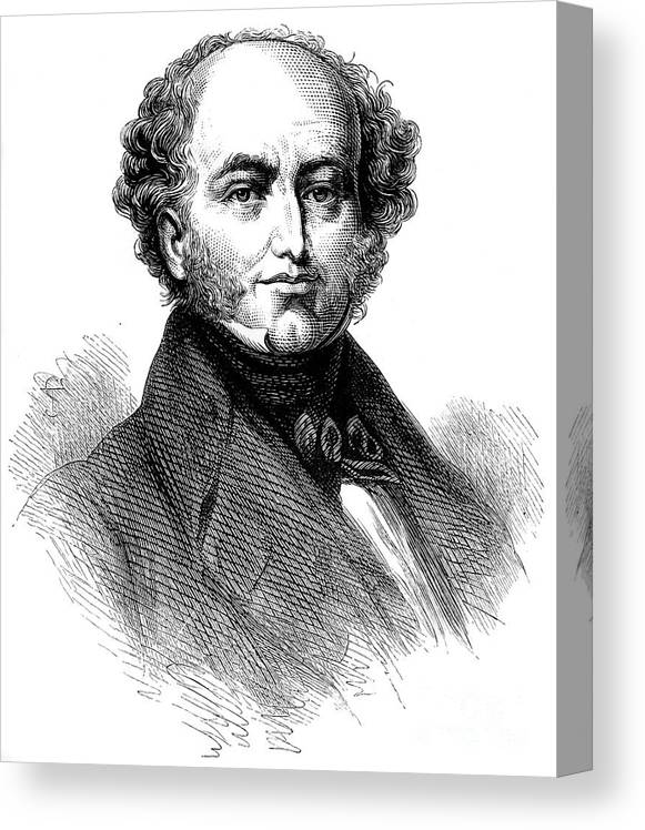 Engraving Canvas Print featuring the drawing President Van Buren 1782-1862, American by Print Collector