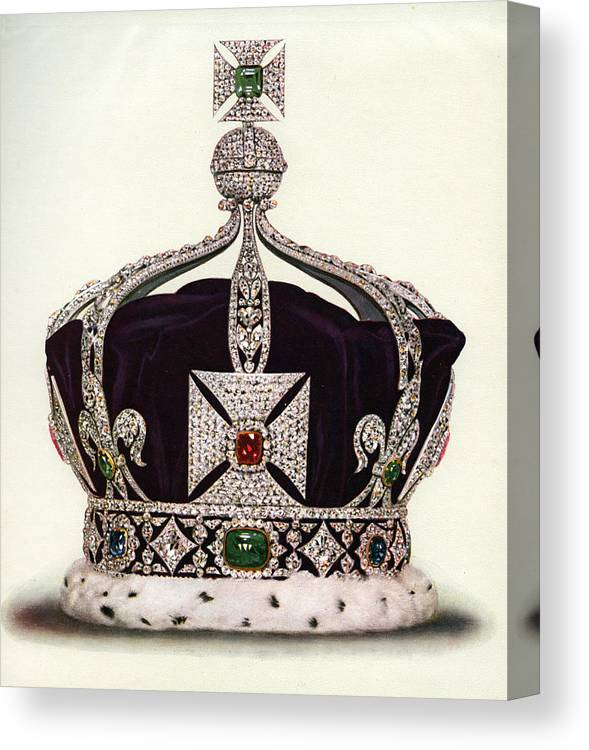 Crown Canvas Print featuring the photograph The Imperial Crown Of India by Graphicaartis