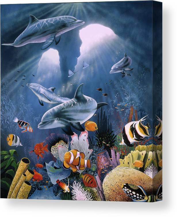 Twilight Canvas Print featuring the painting Twilight by Graeme Stevenson